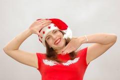 Papai Noel engraçado Fotografia de Stock