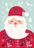Papai Noel engraçado Fotografia de Stock Royalty Free