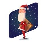 Papai Noel engraçado Fotos de Stock