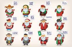 Papai Noel está vindo à cidade Foto de Stock