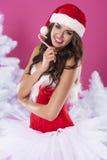 Papai Noel fêmea 'sexy' imagem de stock royalty free