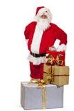 Papai Noel feliz com presentes do Natal Imagens de Stock