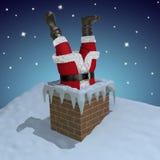 Papai Noel furou na chaminé ilustração do vetor