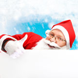 Papai Noel Hand-painted Fotos de Stock Royalty Free