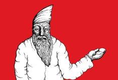 Papai Noel _2 Ilustração desenhada mão imagens de stock