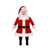 Papai Noel isolou-se no branco Fotos de Stock