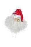 Papai Noel isolou-se no branco Fotos de Stock Royalty Free