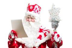 Papai Noel isolou-se no fundo branco Imagem de Stock Royalty Free