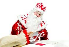 Papai Noel isolou-se no fundo branco Fotos de Stock