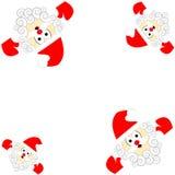 Papai Noel isolou-se no fundo branco Foto de Stock