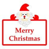 Papai Noel isolou-se no fundo branco Imagens de Stock Royalty Free