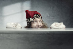 Papai Noel louco Imagens de Stock