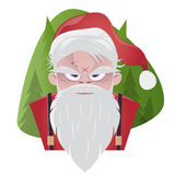 Papai Noel mau Foto de Stock Royalty Free