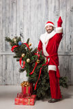 Papai Noel mau Imagens de Stock