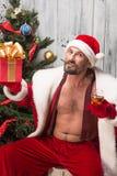 Papai Noel mau Imagem de Stock
