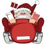 Papai Noel na ação Fotos de Stock Royalty Free
