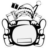 Papai Noel na ação Imagem de Stock Royalty Free