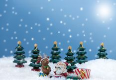 Papai Noel na neve Fotografia de Stock