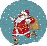 Papai Noel na neve Imagem de Stock Royalty Free