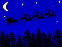 Papai Noel no céu Fotografia de Stock Royalty Free