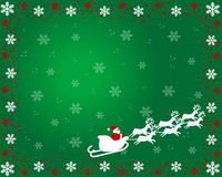 Papai Noel no cartão de Natal ilustração stock