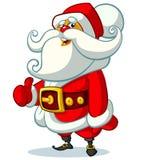 Papai Noel no fundo branco Ilustração do vetor para o cartão de Natal Foto de Stock