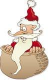 Papai Noel no saco Foto de Stock Royalty Free
