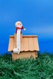 Papai Noel no telhado Imagens de Stock Royalty Free