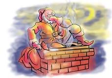 Papai Noel no telhado Imagem de Stock