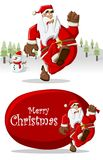 Papai Noel no tempo do Natal Fotografia de Stock