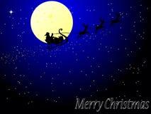 Papai Noel no trenó Fotos de Stock Royalty Free