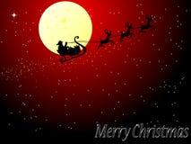 Papai Noel no trenó Fotografia de Stock Royalty Free