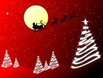 Papai Noel no trenó Imagens de Stock Royalty Free
