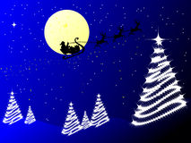 Papai Noel no trenó Imagens de Stock