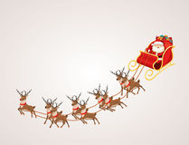 Papai Noel no trenó da rena Foto de Stock Royalty Free