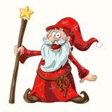 Papai Noel no vermelho Imagens de Stock Royalty Free