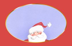 Papai Noel-pintura Imagens de Stock