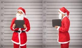 Papai Noel prendeu fotos de stock