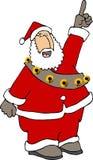 Papai Noel que aponta acima Imagem de Stock Royalty Free