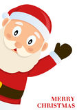 Papai Noel que deseja o Feliz Natal Fotos de Stock