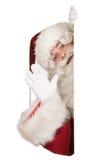 Papai Noel que diz o olá! Imagens de Stock Royalty Free