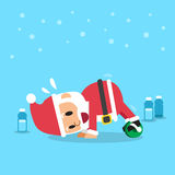 Papai Noel que faz o exercício do desenrolamento da roda do ab Fotos de Stock