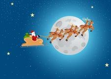 Papai Noel que monta seu trenó ilustração stock