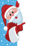 Papai Noel que prende o papel em branco ilustração royalty free