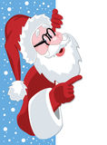 Papai Noel que prende o papel em branco ilustração do vetor