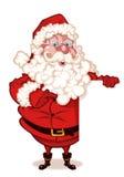 Papai Noel que prende um sinal em branco Imagem de Stock Royalty Free