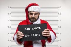 Papai Noel ruim fotos de stock