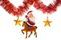 Papai Noel sob estrelas Imagem de Stock