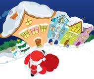 Papai Noel terminou seu trabalho Imagens de Stock Royalty Free