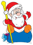 Papai Noel (vetor) Foto de Stock Royalty Free